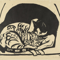 Эрнст Людвиг Кирхнер. Две кошки
