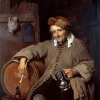 Габриель Метсю. Старый пьяница