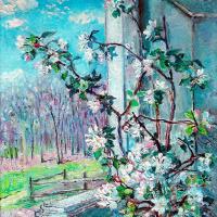 Давид Давидович Бурлюк. Цветущая ветка в вазе