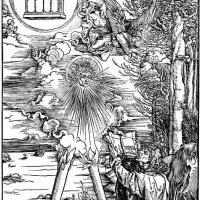 Альбрехт Дюрер. Иоанн проглатывает книгу