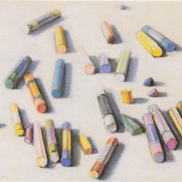 Рассыпанные мелки пастели