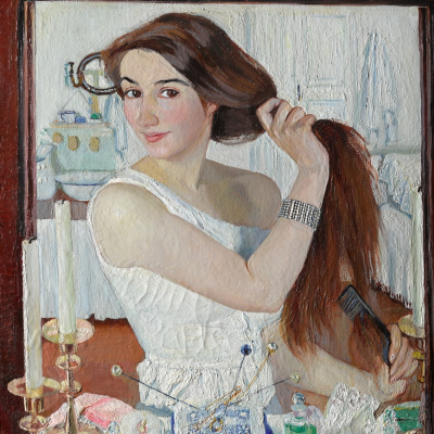 At the Dressing-Table. Self-Portrait
