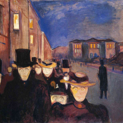 Evening on the street of Karl John