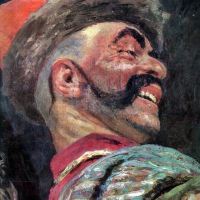Запорожцы пишут письмо турецкому султану. Фрагмент