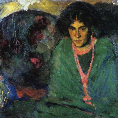 The lady in green. 1910.