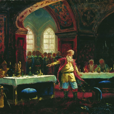 Prince Repnin at the feast of Ivan the Terrible