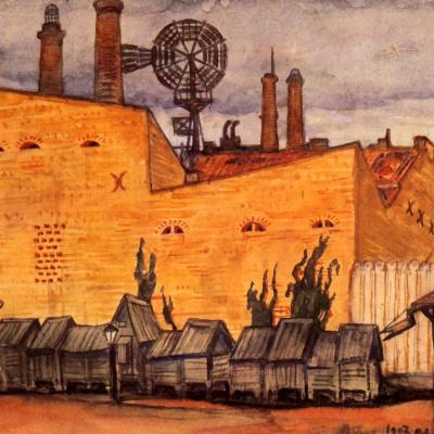 Vilna. Bazaar at the wall