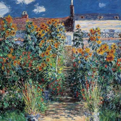 """""""The Artist's Garden at Vetheuil"""""""