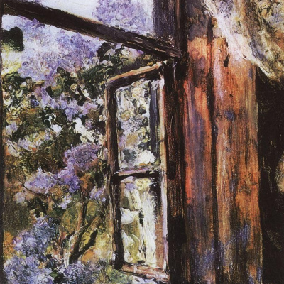 Open window. Lilac.
