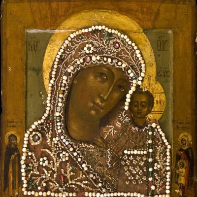 The Kazan icon of the Mother of God of XVII - XVIII century.