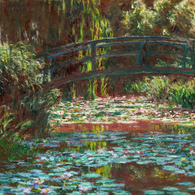 The Japanese bridge (Bridge over a pond with water lilies)