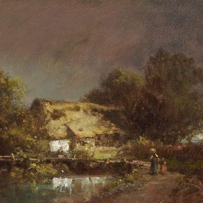 Перед грозой. Ферма в окрестностях Гаутинга