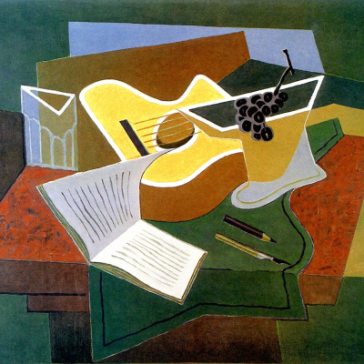 Guitar and bunch of grapes