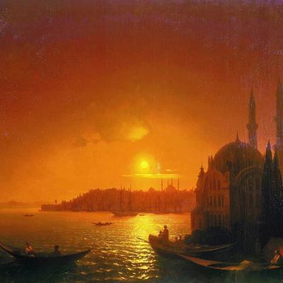 Вид Константинополя при лунном освещении