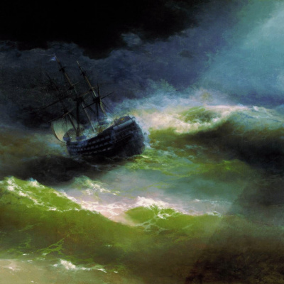 "Ship ""Empress Maria"" in the storm"