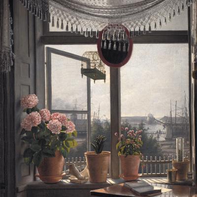 Вид из комнаты художника