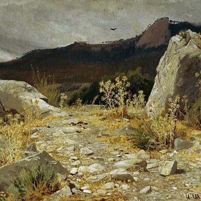 Mountain trail in the Crimea
