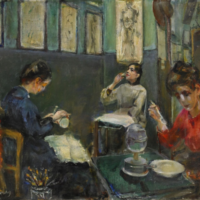 Académie Julian, Mademoiselle Beson Drinking from a Glass