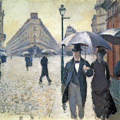 Rue de Paris, Temps de Pluie, etude (Paris Street, Rainy Day, sketch)