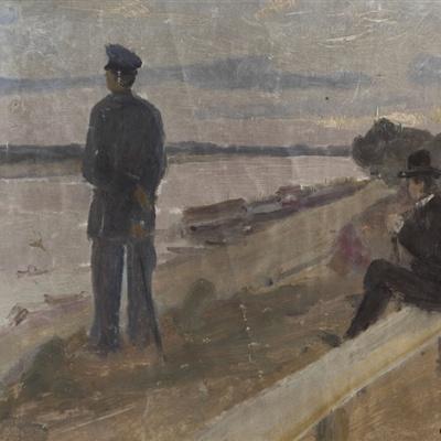 On The Volga River. Klinowski