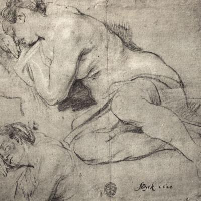 Зарисовки спящей женщины