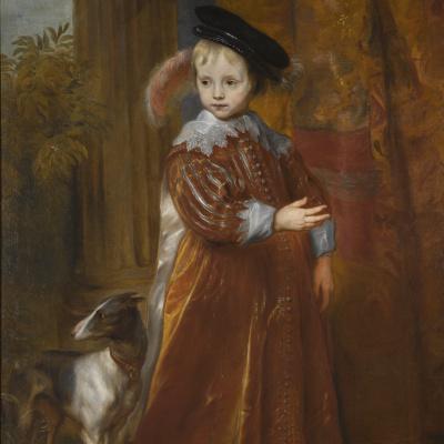 Портрет принца Вильгельма II Оранского с гончей