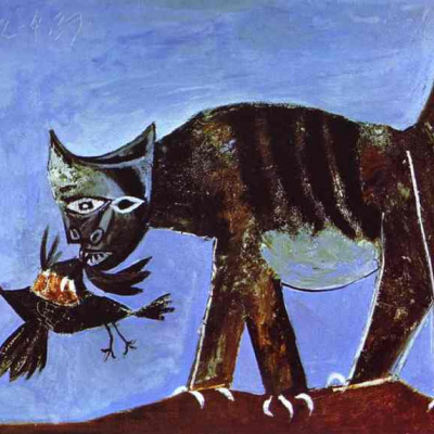 The cat who caught the bird