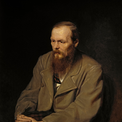 Portrait of the writer Fyodor Mikhailovich Dostoevsky