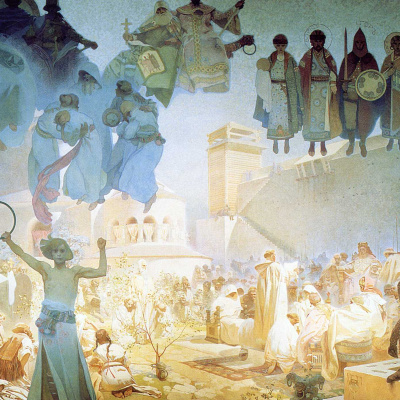 """The introduction of the Slavic Liturgy. From the series """"the Slav epic"""""""