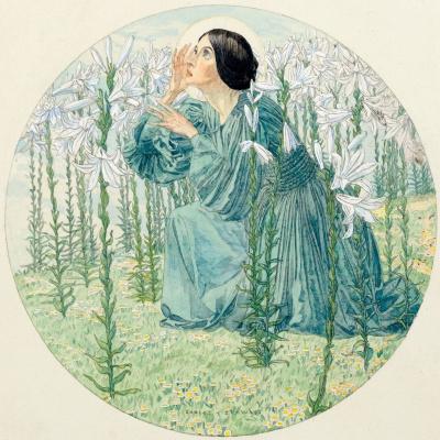 Carlos Schwabe. In the garden of the Infanta. 1895
