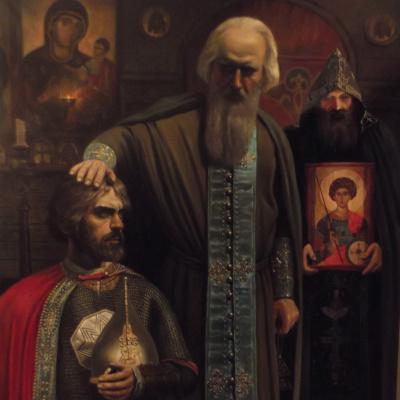 Благословение Сергием Радонежским Дмитрия Донского
