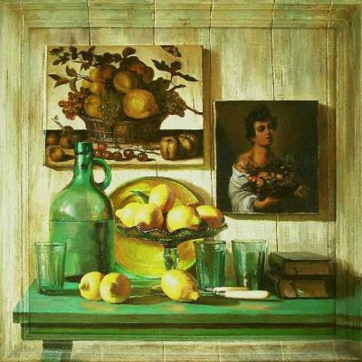 Вета Любимова. Натюрморт с лимонами.   2010