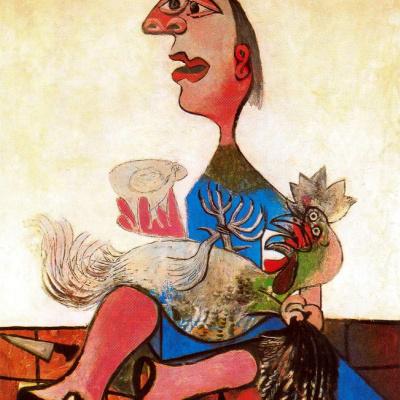 Женщина с петухом