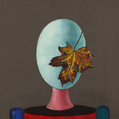 """Eidos with autumn leaf. Cycle """"Immortals"""""""