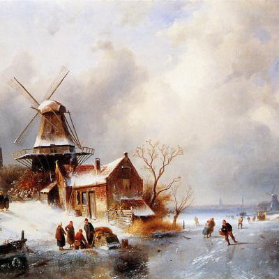 Winter scene in Голландии2