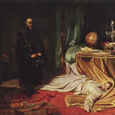 Астролог Сени перед телом Валленштейна