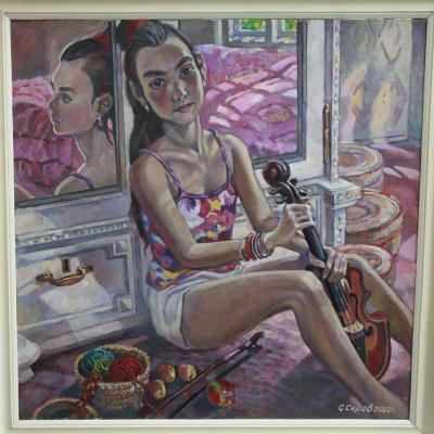 S. Serov. Girl with a violin