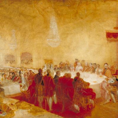Георг IV на банкете у лорда-провоста в парламенте, Эдинбург