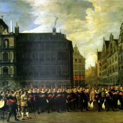 Групповой портрет членов стрелковой гильдии Старый лук в Антверпене