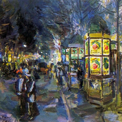 Paris Boulevard at night