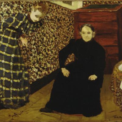 Интерьер, мать и сестра художника