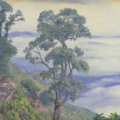 Clouds over Darjeeling, India