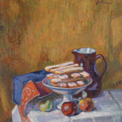 Still life with cakes