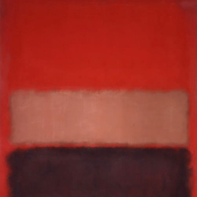 № 46 (Черный, охра, красный на красном)