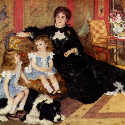 The portrait of Madame Charpentier with children