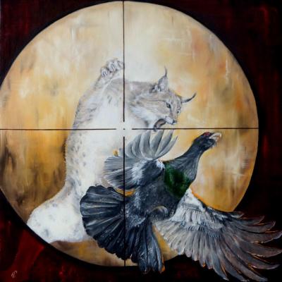"Sergey Vladimirovich Kolesnikov (KS). From the series ""Hunting"" (lynx) / Aus der Serie ""Die Jagd"" (Der Luchs) / From the series ""The Hunt"" (The Lynx)"