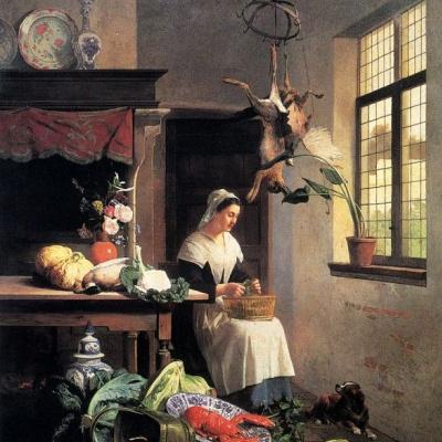 Служанка на кухне