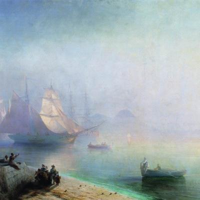 Неаполитанский залив в туманное утро