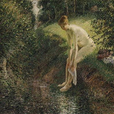 Купальщица в лесу