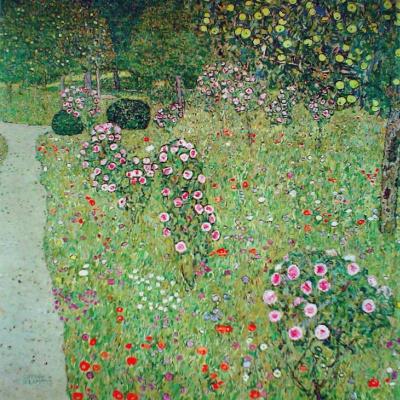 Gustav Klimt. Orchard with Roses